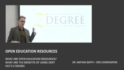 Thumbnail for entry OPEN EDUCATION RESOURCES - WHAT ARE OER?
