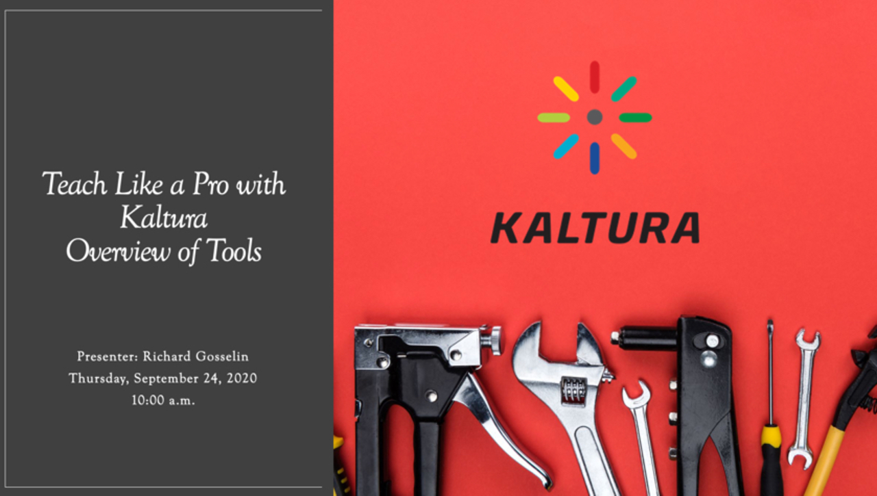 Teach Like a Pro in Kaltura Live Room - Overview of Tools
