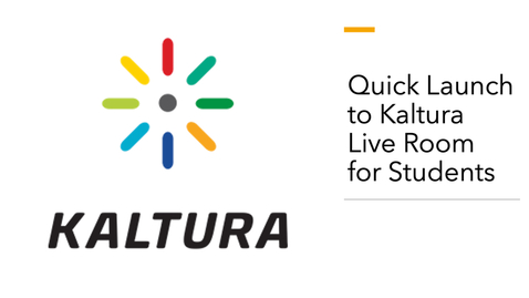Thumbnail for entry How to Launch Kaltura Live Room for Students