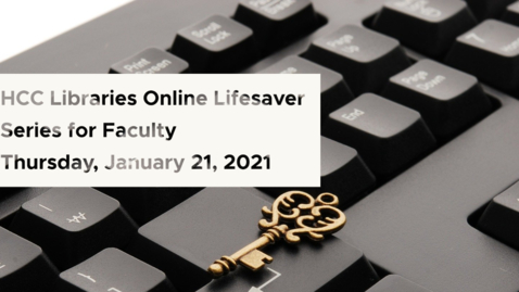 Thumbnail for entry Copyright and Accessibility: Library Lifesaver Series