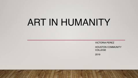 Thumbnail for entry Art and Humanity