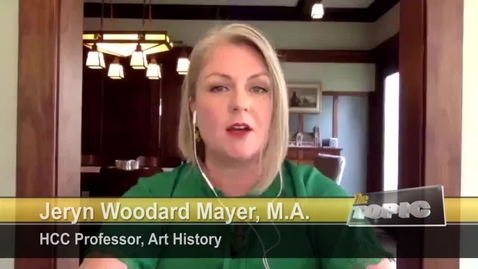 Thumbnail for entry Professor Jeryn Woodard Mayer Talks Houston Art and the Bayou City Art Festival | HCCTV's The Topic