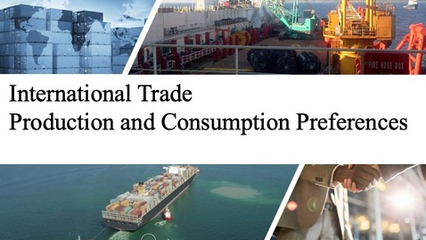 Thumbnail for entry International Trade - Production Before Trade