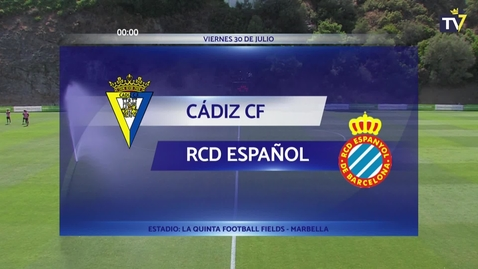 Miniatura para la entrada Partido amistoso Cádiz-Espanyol (30/07/21)