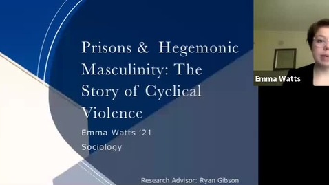 Thumbnail for entry Prisons and Hegemonic Masculinity: The Story of Cyclical Violence