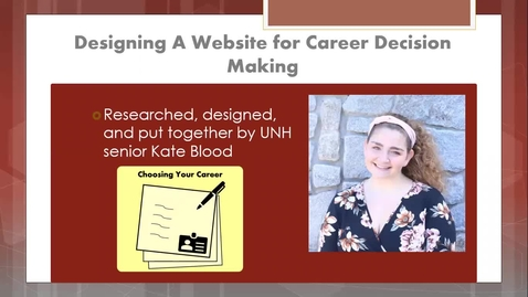 Thumbnail for entry Designing a Career Decision Making Website
