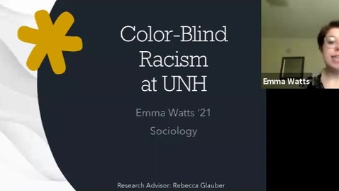 Thumbnail for entry Color-Blind Racism at UNH