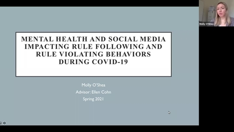 Thumbnail for entry Mental Health and Social Media Impacting Rule Following and Rule Violating Behaviors During COVID-19