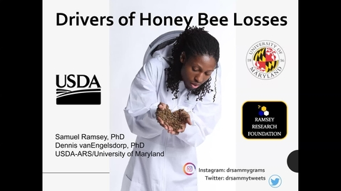 Thumbnail for entry Dr. Samuel Ramsey:  Drivers of Honey Bee Colony Losses: What the Data Actually Say, Presented by the NH Beekeepers Association