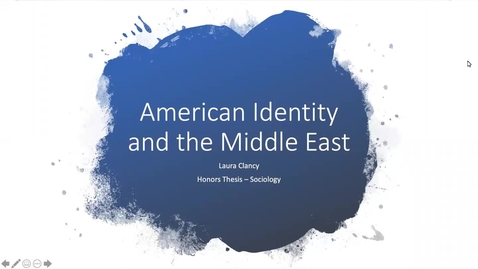 Thumbnail for entry American Identity and the Middle East