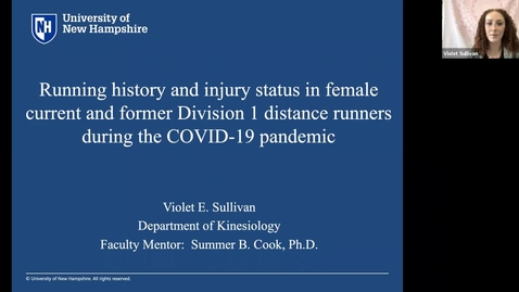 Thumbnail for entry Running History and Injury Status in Female Current and Former Division 1 Distance Runners During the COVID-19 Pandemic