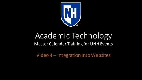 Thumbnail for entry Master Calendar Video 4 - Integrate Events Calendar Into Drupal Websites