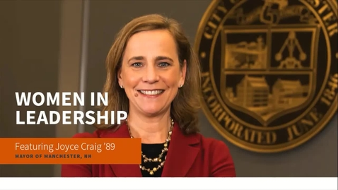 Thumbnail for entry WWO: Women in Leadership featuring Joyce Craig