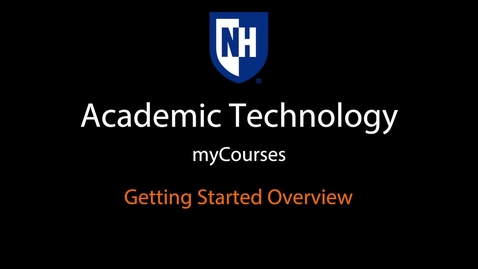 Thumbnail for entry myCourses - Getting Started Overview