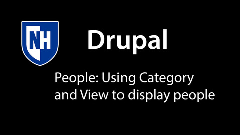 Thumbnail for entry Drupal: People Category and View