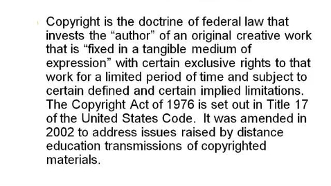 Thumbnail for entry Copyright Laws For Students webinar (Source)