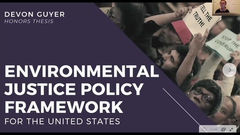 Thumbnail for entry Environmental Justice Policy Framework in the United States