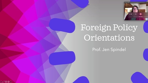 Thumbnail for entry 2 - Foreign policy orientations