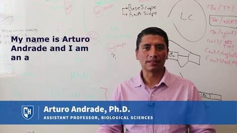 Assistant Professor Arturo Andrade