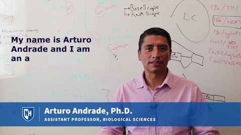 Thumbnail for entry Assistant Professor Arturo Andrade