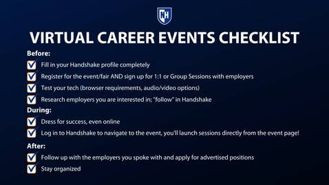 Thumbnail for entry Virtual Career Events Checklist for students