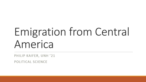 Thumbnail for entry Emigration from Central America