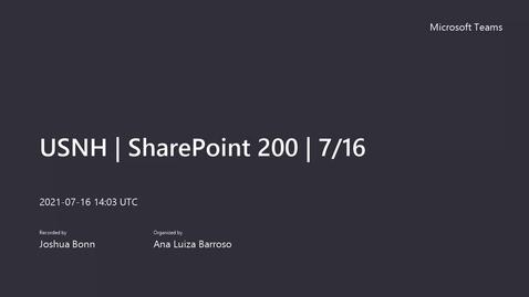 Thumbnail for entry USNH - Microsoft SharePoint training Level 200 - 7_16