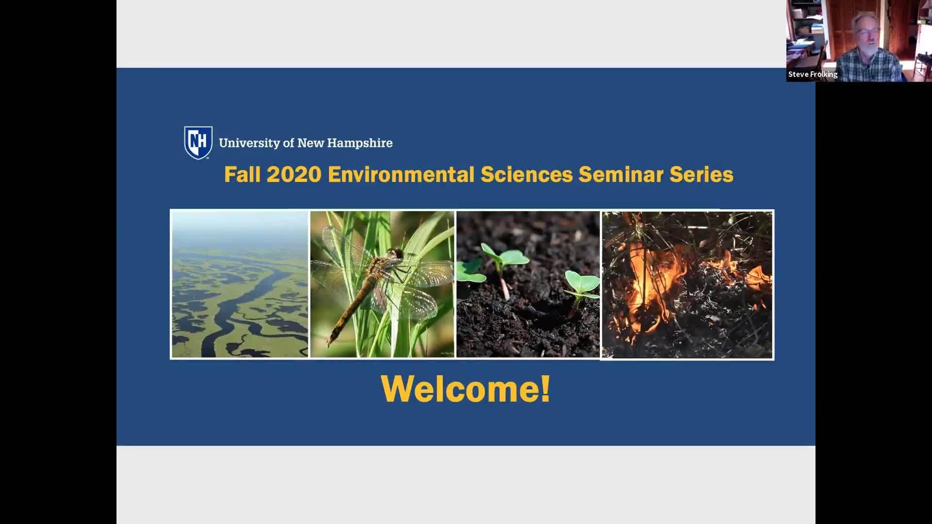 Video thumbnail for Recording 10/14/2020 Diego Riveros-Iregui  UNH Fall 2020 Environmental Sciences Seminar Series
