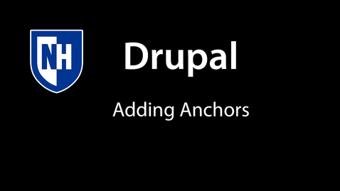 Thumbnail for entry Drupal: Adding Anchor