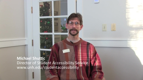 Thumbnail for entry Student Accessibility Services_Michael Shuttic