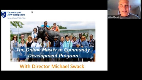 Thumbnail for entry The Online Master in Community Development Program