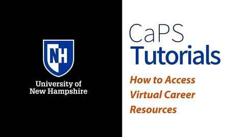 Thumbnail for entry How to Access Virtual Career Resources