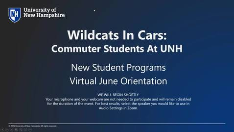 Thumbnail for entry **Wildcats in Cars: Commuter Students at UNH