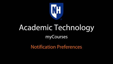 Thumbnail for entry myCourses - Notification Preferences