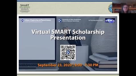 Thumbnail for entry Virtual SMART Scholarship Presentation