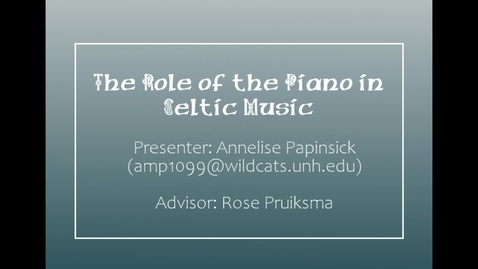 Thumbnail for entry The Role of the Piano in Celtic Music