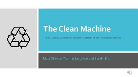 Thumbnail for entry 22 + 1 (Team 23): The Clean Machine