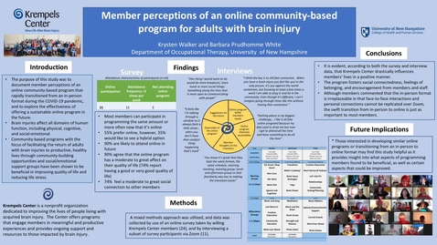Thumbnail for entry Member perceptions of an online community-based program for adults with brain injury
