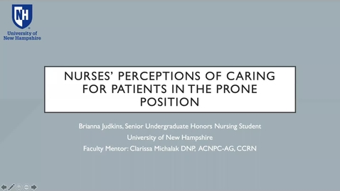Thumbnail for entry Nurses' Perceptions of Caring for Patients in the Prone Position