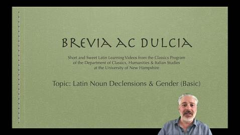 Thumbnail for entry Noun Declensions and Gender (Brevia ac Dulcia, Basic)