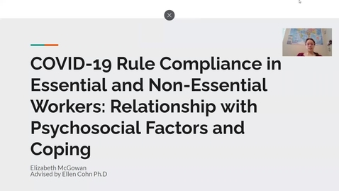 Thumbnail for entry COVID-19 Rule Compliance in Essential and Non-Essential Workers: Relationship with Psychosocial Factors and Coping