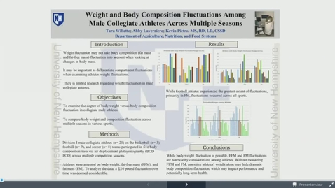 Thumbnail for entry Weight and Body Composition Fluctuations Among Male Collegiate Athletes Across Multiple Seasons