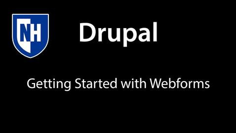 Thumbnail for entry Drupal - getting started with webforms