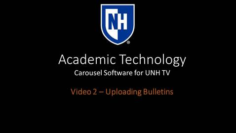 Thumbnail for entry Carousel Training Video 2 - Uploading