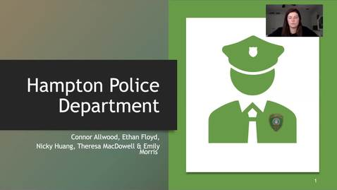 Thumbnail for entry Hampton Police Department Presentation
