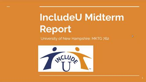 Thumbnail for entry IncludeU Midterm Report