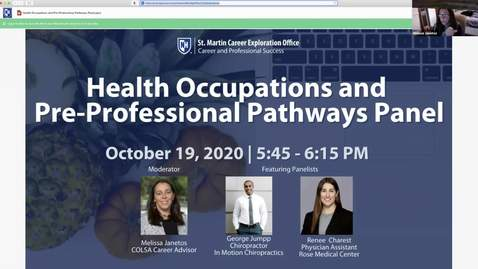 Thumbnail for entry Health Occupations and Pre-Professional Pathways Panel
