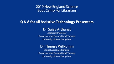 Thumbnail for entry Assistive Technology Q&A