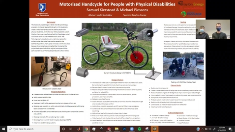 Thumbnail for entry Motorized Handcycle for People with Physical Disabilities