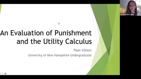 "Thumbnail for entry ""An Evaluation of Punishment and the Utility Calculus"""